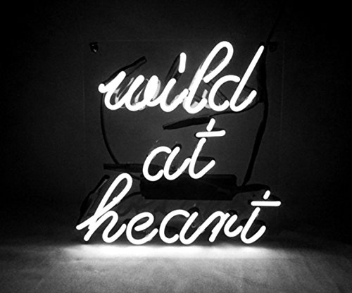 Neon Signs for Wall Decor Neon Sign for Bedroom Decorative Signs Neon Light Led Neon Sign Lamp Art Words Home Room Decor Beer Bar Office Custom Glass Neon Signs White, Wild at Heart, 14.5