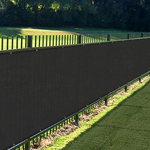 Black Fencing - KANAGAWA 4'x50' Privacy Fence Screen Black Heavy Duty Mesh Cloth Fencing Shade Tarp Commercial Grade 150 GSM