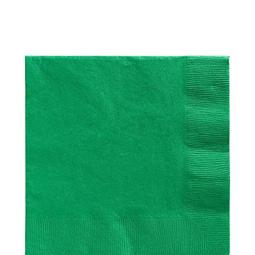 Big Party Pack Festive Green Luncheon Napkins | Pack of 125 | Party Supply (Green Paper Napkins)