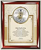 Personalized Poetry Gift for Lawyer or Law School Graduation Gifts for Attorney or Passing the Bar present - Custom Poem Wall Clock Frame for University College Law School Graduates