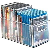 mDesign Porta DVD, CD y videojuegos – Sistema de almacenaje de películas, series,…