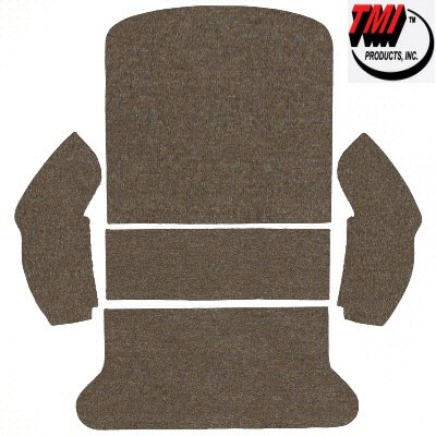 (Tmi Rear Well Oatmeal Carpet Kit For Area Behind Back Seat On 1965 To 1972 Standard Or Super)