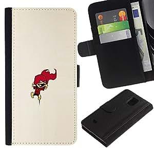 KLONGSHOP // Tirón de la caja Cartera de cuero con ranuras para tarjetas - Calvin Encimera - Samsung Galaxy S5 Mini, SM-G800 //