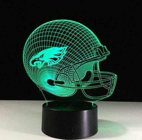Football Helmet Light - Touch Control Football Helmet Light- Upgraded Color Changing Touch Light - Night Light for Boys Men Women - Perfect Gift for Football Sports Lovers (Philadelphia Eagles) ()