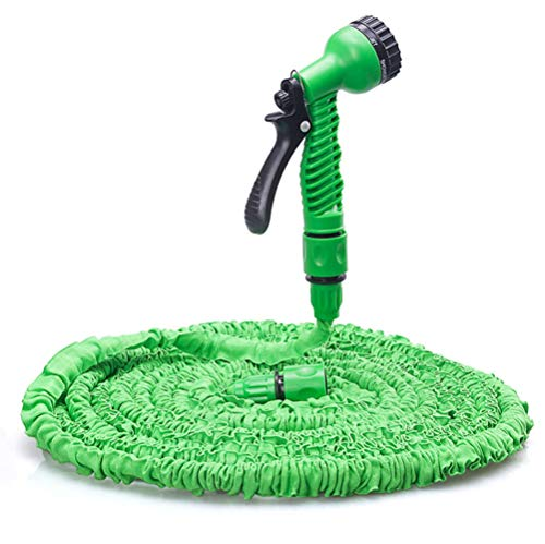 Indoor Watering Wand - Garden Hose 25FT Lightweight Collapsible Flexible Gardening Water Hose Pipe for Car Washing,Watering Flowers, Pet Bathing (25FT, Green)