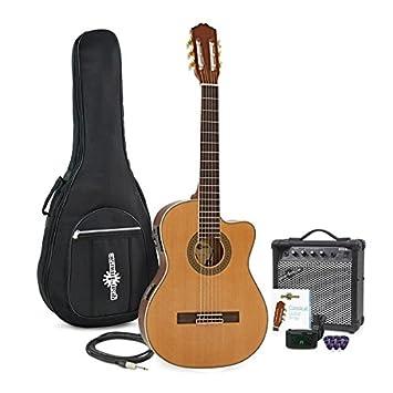 Paquete de Guitarra Clásica Electroacústica Thinline + Amplificador de 15W: Amazon.es: Instrumentos musicales