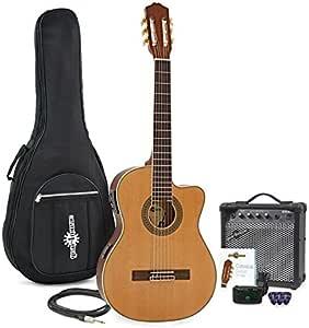 Paquete de Guitarra Clasica Electroacustica Thinline + ...