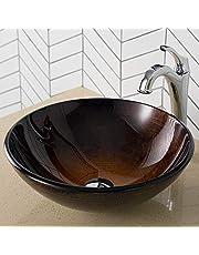 Kraus C-GV-580 Arlo & Glass Bathroom Sink and Faucet