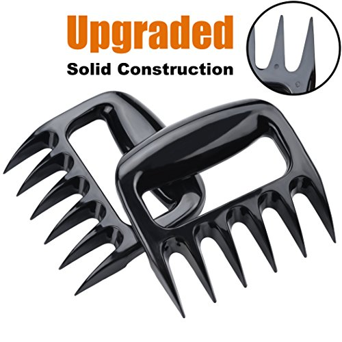 APURSUE Meat Pulled Pork Shredder Claws Solid Structure Bear Claws Heat Resistant BBQ Shredding Claws Barbecue Tools Forks Claws Meat Carving Forks - Solid Structure Design Easy To Clean More Durable
