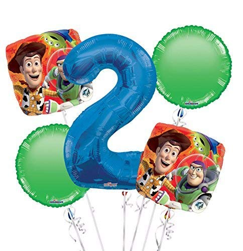 Toy Story Balloon Bouquet 2nd Birthday 5 pcs - Party Supplies]()