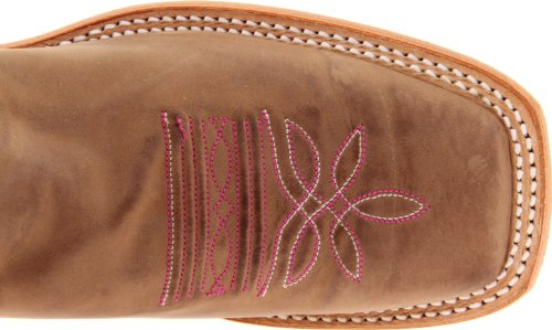 Justin Boots Womens Usa Bent Rail Collection 13 Stivale Rosa Scuro Classico / Tan Vintage Cow