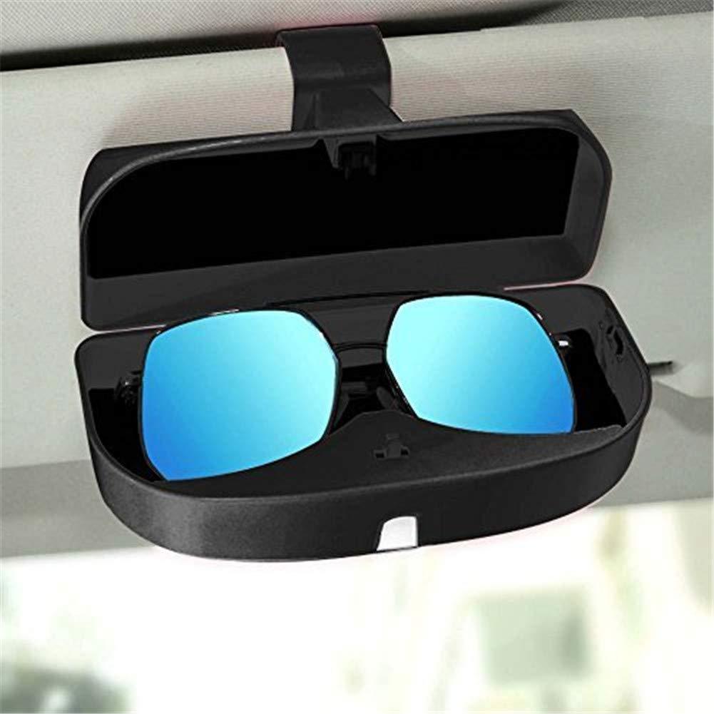 WESEEDOO Porta Occhiali Occhiali da Sole per Auto Caso Occhiali da Sole per Auto Scatola con Porta Biglietti Biglietti Custodia per Monete