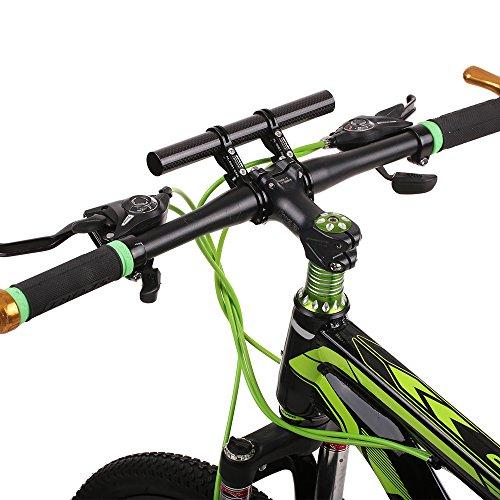Carbono Manillar Bicicleta Computadora Soporte Lixada Barra 31 8 De Mm 2 Clips Conjunto Gub 22 Sostenedor Fibra Extensiones YHYq0tw