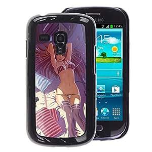A-type Arte & diseño plástico duro Fundas Cover Cubre Hard Case Cover para Samsung Galaxy S3 MINI 8190 (NOT S3) (Sexy Lingerie Girl Woman Bra Panties)