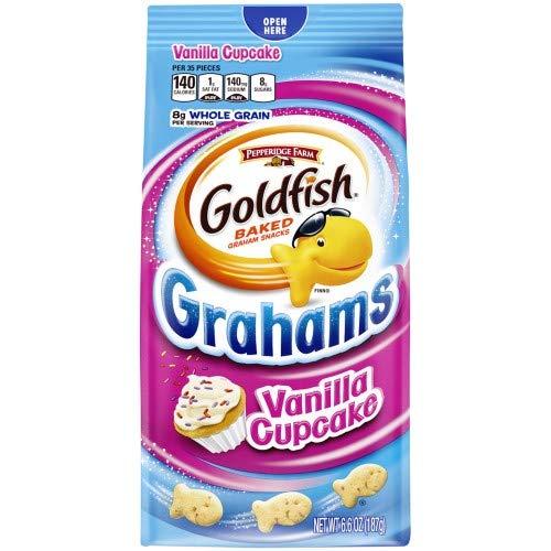 Pepperidge Farm Goldfish Grahams Vanilla Cupcake Crackers (Pack of 4) by Pepperidge Farm