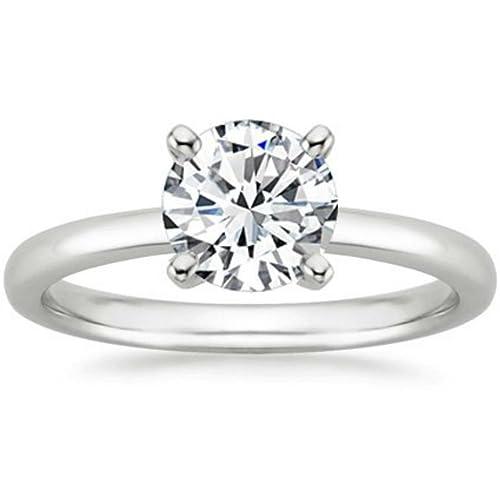 Anillos de Compromiso de diamante certificado Mejora ...