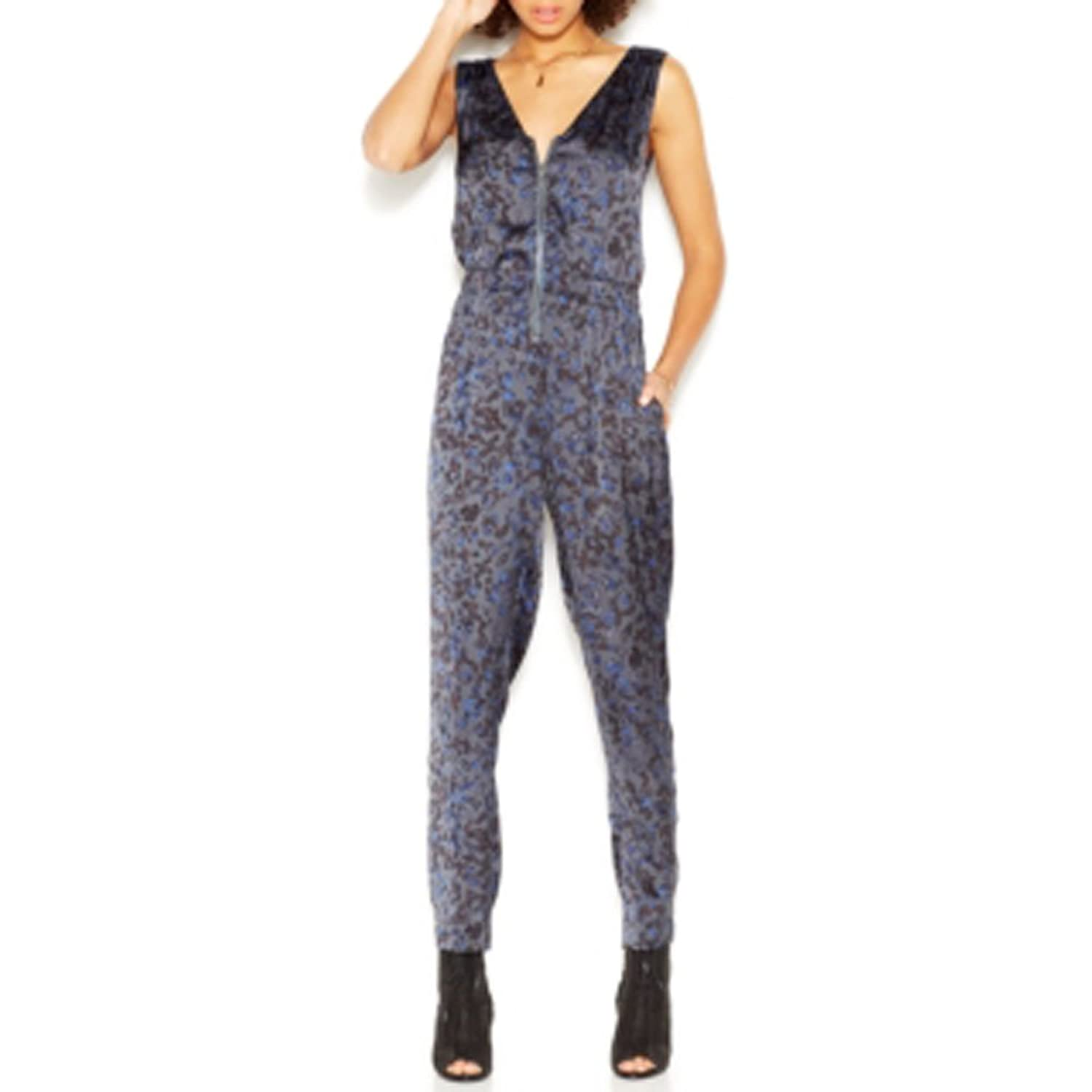 "Rachel Roy ""go West"" Jumpsuit In Petrol Combo Sz: Xl"