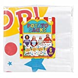 Amscan Carnival Fair Fun Potato Sack Race Bags Game Party Activity (6 Piece), Multicolor, 41''