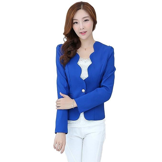 afe7efa40f27 Valor comprar GO GO GO Fashion estilo coreano de manga larga Slim Sexy de  la mujer traje Blazer chaqueta: Amazon.es: Ropa y accesorios