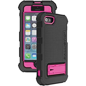 Ballistic Iphone 5 And 5s Hard Core Series Case With Holster (black And Pink)