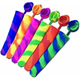 EXOX Silicone Popsicle Molds Ice Pop Maker(Set of 6)Multi-color