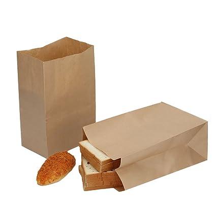 HRX Package Paper Lunch Bags, 13# 11.75u0026quot;x7.8u0026quot;x5u0026quot;