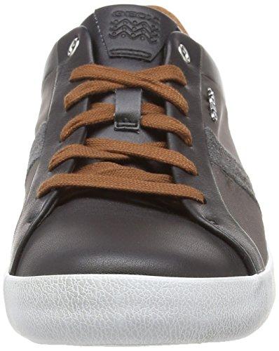 C9b6w Schwarz U Geox black Case Herren Taupe Chaussure Dk G aqz6qT