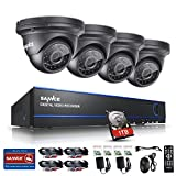 SANNCE 4CH 1080P DVR Security Camera System with 4pcs 1080P Weatherproof 100ft Night Vision Indoor & Outdoor CCTV Cameras (1TB HDD Included)