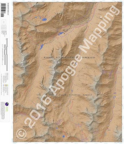 Bells Maroon (Maroon Bells, Colorado 7.5 Minute Topographic Map - Waterproof Paper)