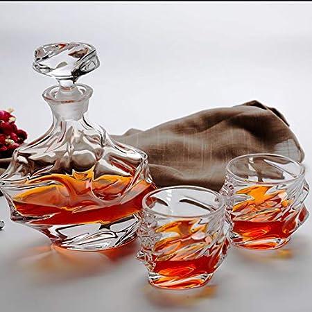 GAOXIAOMEI Juego De 7 Vasos De Decantador De Whisky, Vaso De Whisky De Cristal Sin Plomo De 320 Ml, Decantador De 900 Ml, Regalo Elegante Único para Hombres O Mujeres