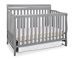 Graco Stanton 4-in-1 Convertible Crib, Pebble Gray