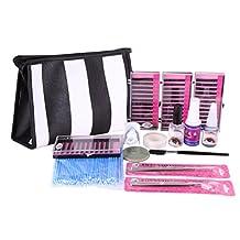 YESURPRISE Pro Semi Permanent Make Up Individual Eyelash Extensions C Curl Glue Kit Set Bag