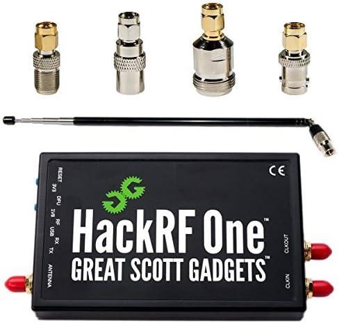 Radio Definida por Software (SDR) HackRF One, ANT500 Antena, y Paquete de Adaptador de Antena SMA