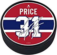 Carey Price Montreal Canadiens Textured Hockey Puck with Replica Signature