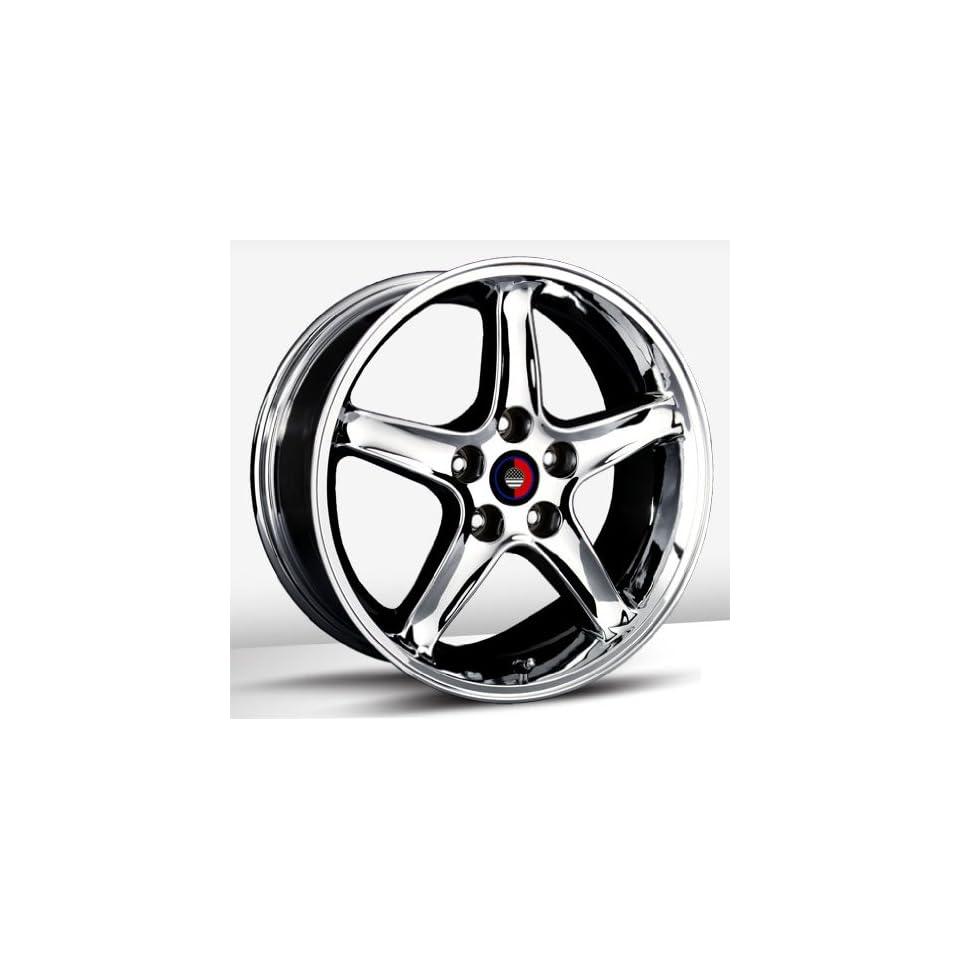 17x9 Trade Union Cobra R Replica (Chrome) Wheels/Rims 4x108 (1110 7934C) Automotive