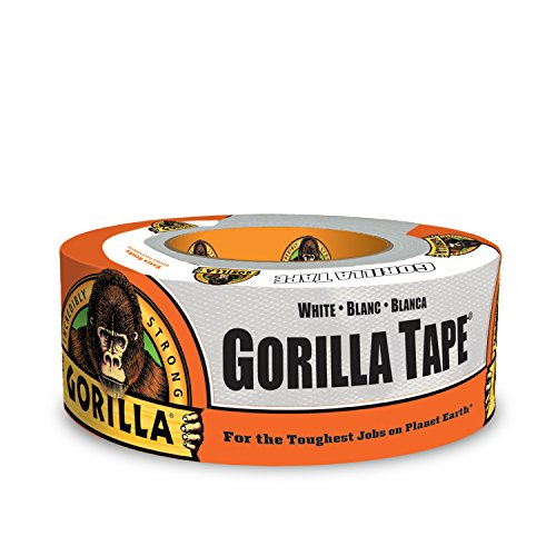 Gorilla 6010002-2 White Tape Duct Tape, 1.88 inch x 10 Yd., (Pack of 2)