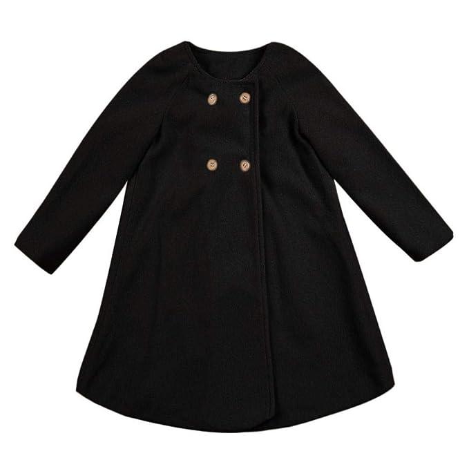 Amazon.com: Auwer Baby Girls Outerwear Jackets, Toddler Cute Autumn Button Outwear Cloak Cotton Sweater Cardigan Warm Coat Clothes (5T, Khaki): Kitchen & ...
