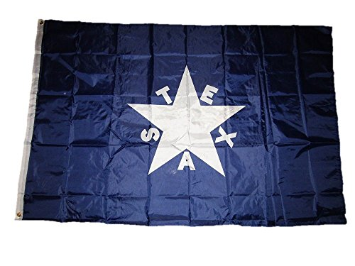 4'x6' Texas Lorenzo De Zavala Lone Star Flag 4x6 ft House Banner Grommets Double Stitched Fade Resistant Premium Quality (Texas House Flag)