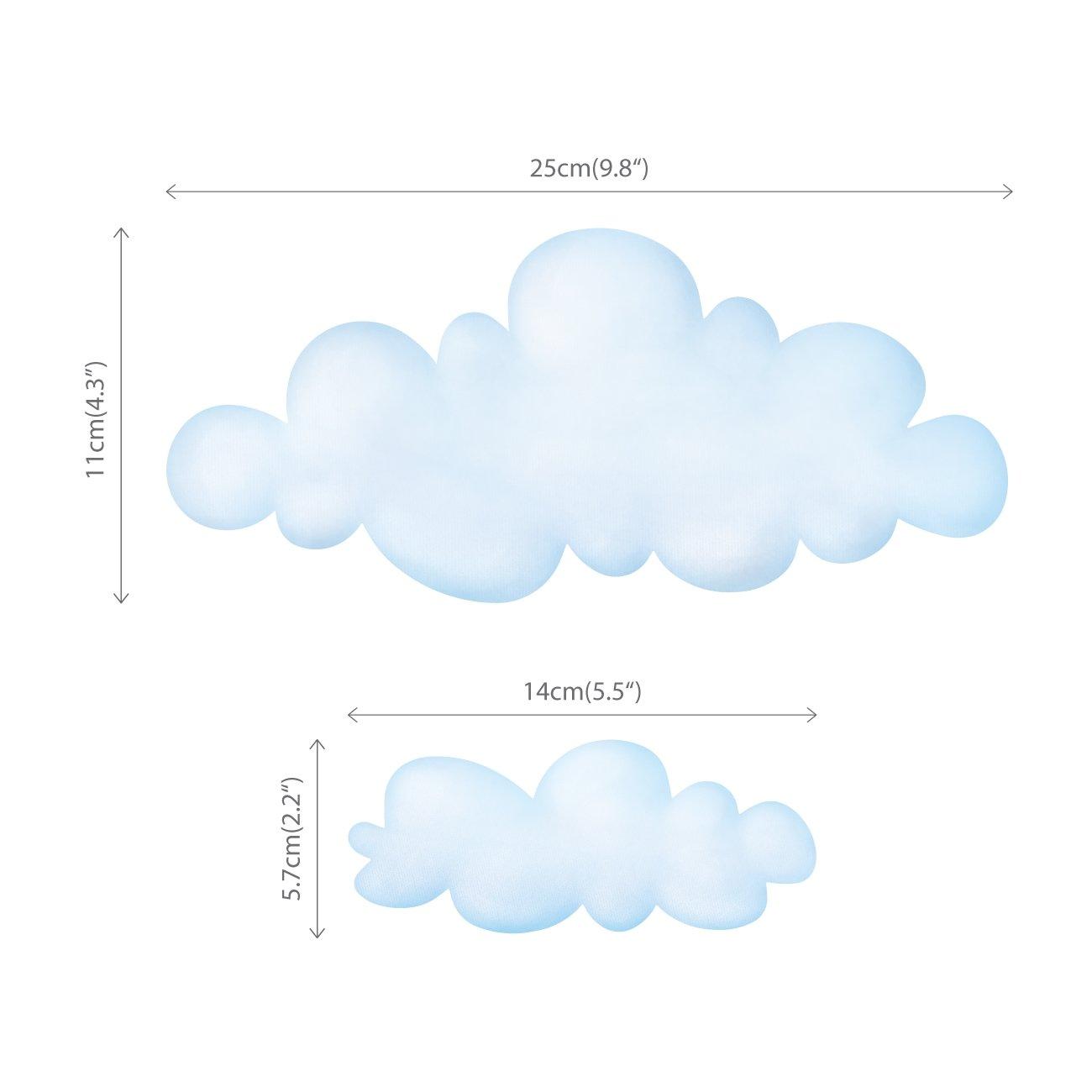 DECOWALL DA-1713 Wolken und Regenbogen Wandtattoo Wandsticker Wandaufkleber Wanddeko f/ür Wohnzimmer Schlafzimmer Kinderzimmer Gro/ß