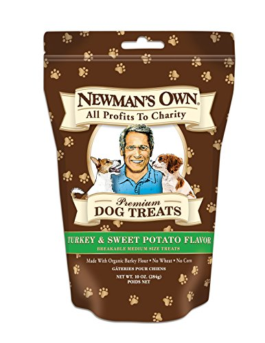 Newman's Own Premium Dog Treats, Turkey & Sweet Potato, Breakable Medium, 10-Ounce Bags (Pack of 6)