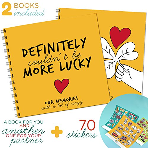 Little Big Drop THE BEST COUPLE GIFT - Couple Memory Booklet, Perfect Gifts for Her or Him Creative and Funny Idea For That Special Person, 2 Pack One For You One for Your Partner 24 By