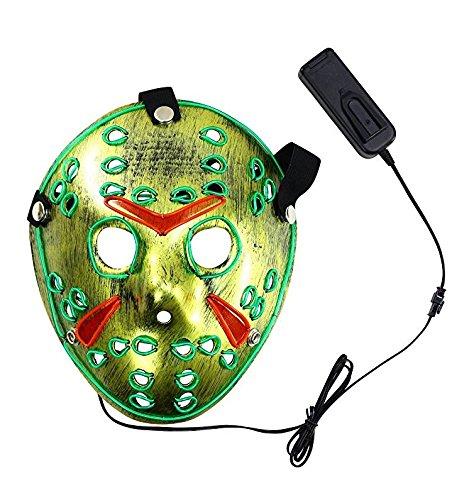 Gloworks Jason Mask Halloween Led Mask Skull Mask