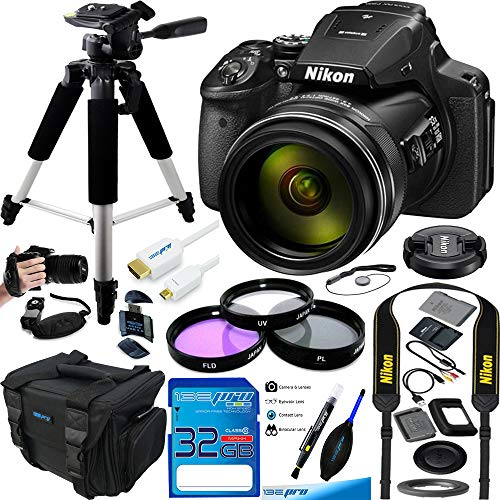 (Nikon COOLPIX P900 Digital Camera with 83x Optical Zoom and Built-in Wi-Fi(Black) - Essential Accessories Bundle )