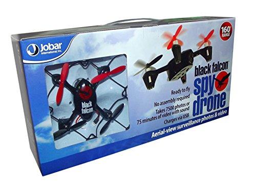 Jobar Black Falcon Spy Drone with Aerial-view Surveillance by JOBAR INTL INC