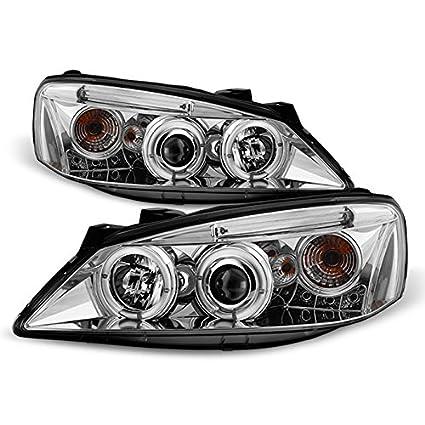 05-10 Pontiac G6 Smoke Lens Headlights Pair+6-LED Bumper Fog Lamp Left+Right