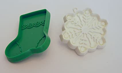 Set Of 2 Vintage Hallmark Cards Plastic Snowflake Boot Christmas Holiday Cookie Cutters