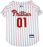 Pets First MLB PHILADELPHIA PHILLIES Dog Jersey, Large. - Pro Team Color Baseball Outfit