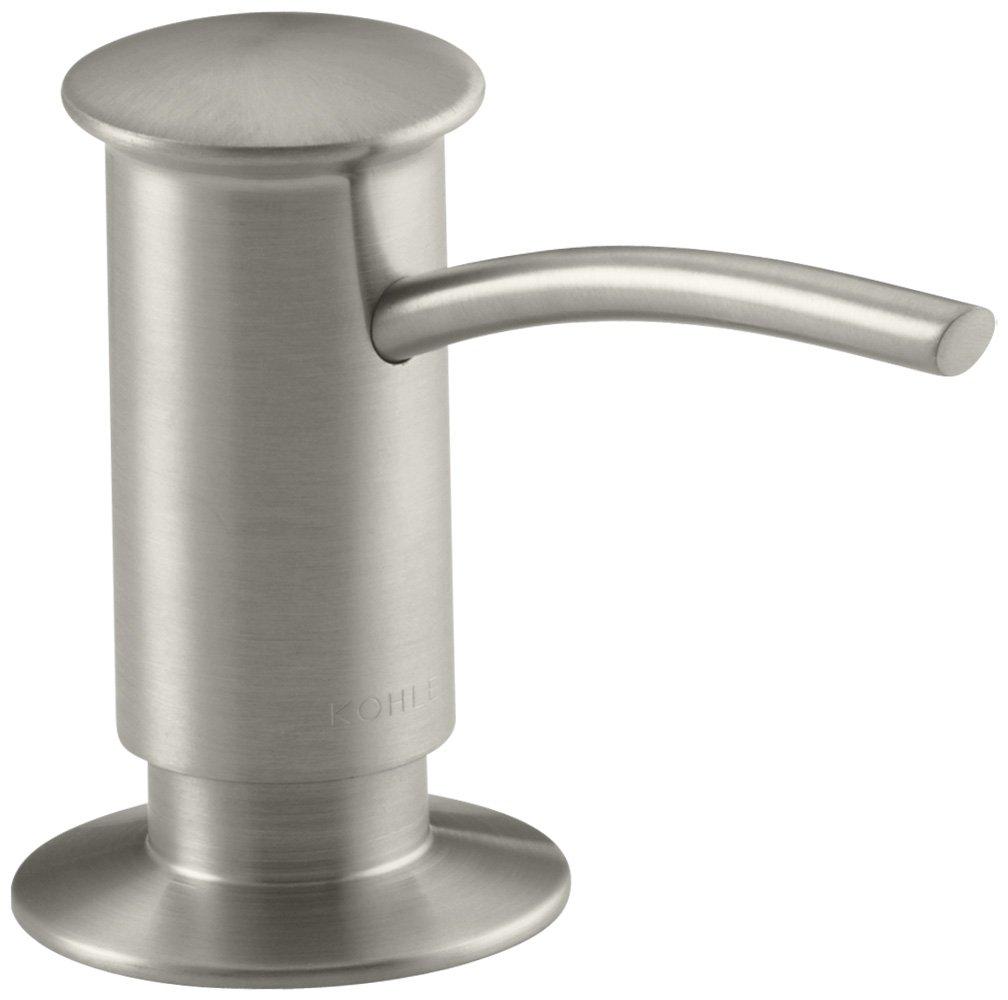 KOHLER K-1895-C-BN Soap or Lotion Dispenser with Contemporary Design (Clam Shell Packed), Brushed Nickel by Kohler