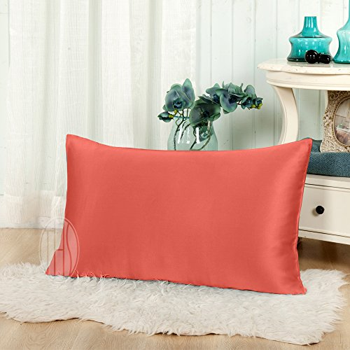 THXSILK 19mm Mulberry Silk Pillowcase for Baby Toddler Decorative Cushion Cover Travel 12x16, - Pillow 12
