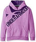 Under Armour Girls Threadborne Novelty Fleece Hoodie,Purple Rave /Indulge, Youth X-Small